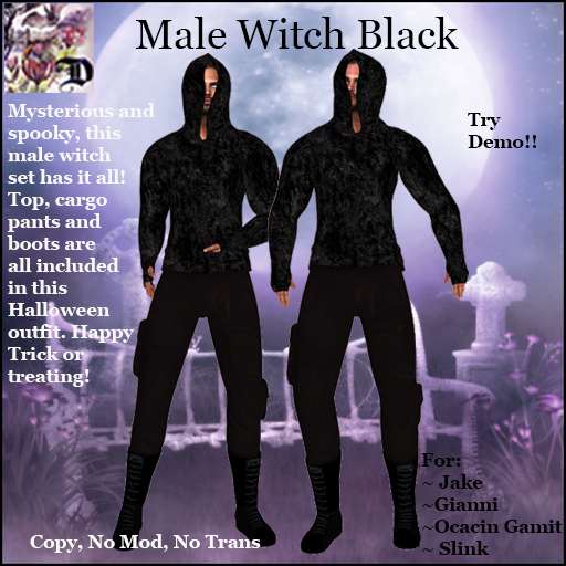 Male Witch Outfit BLACK (ADD ME)