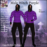 Male Witch Outfit PURPLE (ADD ME)