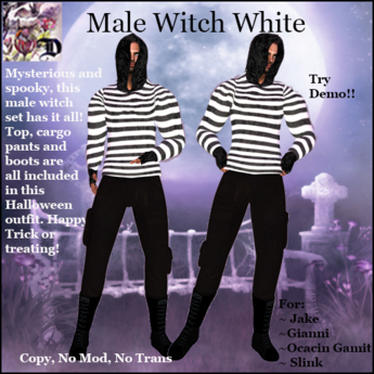Male Witch Outfit WHITE (ADD ME)