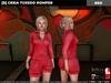[S] Cesia Tuxedo Romper Red