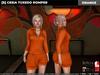 [S] Cesia Tuxedo Romper Orange