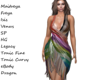 ~PP~ Shimmering Sheer Shawl Dress - Pride