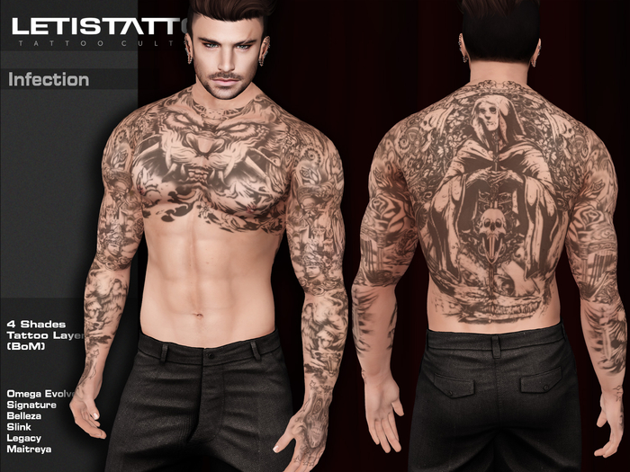 Letis Tattoo :: Infection :: Tattoos Bakes On Mesh & Omega Legacy Signature and more Appliers