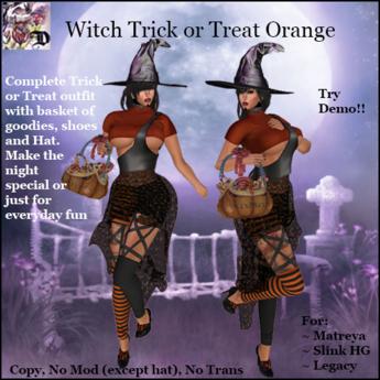 Witch Trick or Treat ORANGE (ADD ME)