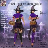 Witch Trick or Treat PURPLE (ADD ME)