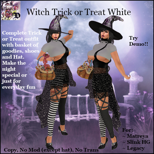Witch Trick or Treat WHITE (ADD ME)