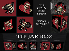 Tip Jar - Joker Poker Skull Coin Box - *TIP JAR*