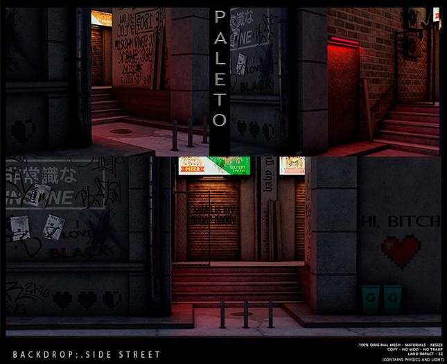 .PALETO. Backdrop:. Side Street