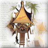 Gacha Tiki Hut Set *Hut 1* 7 Prim 11x11 m Size Rare