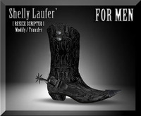 ::: Shelly Laufer Western Cowboy Boots Spurs [For Men] :::