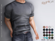 [ALEYNACOX] - CASUAL ROUND NECK T-SHIRT