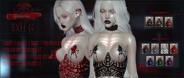 HUMAN GLITCH // XVII CORSET / FULLPACK (wear)