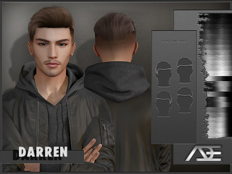 Ade - Darren Hairstyle (Greyscale)