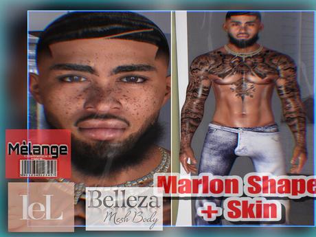Melange- Marlon Shape + Skin Lelutka Luka Belleza Jake