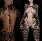 Nori Warrior Tattoo - Unisex, Blue Colour, Maitreya, Legacy, INTHIUM, Belleza, Signature, Omega, BOM - Vezzo Ink