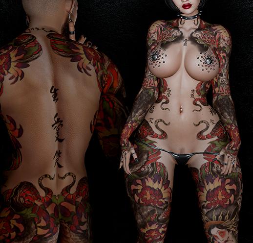Vezzo Ink Tattoo - Nori Red