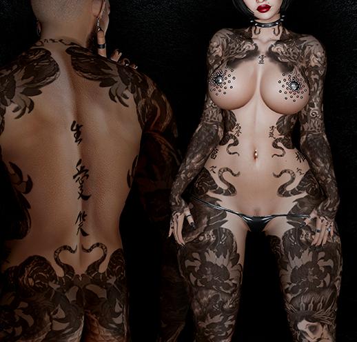 Nori Warrior Tattoo - Unisex, Black Colour, Maitreya, Legacy, INTHIUM, Belleza, Signature, Omega, BOM - Vezzo Ink