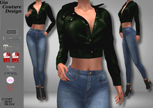 """GCD"" Braxton Leather Jackets Moss"