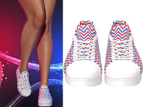 !PCP :: Becky Sneakers [Patriot Chevron]