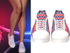 !PCP :: Becky Sneakers [Patriot Stars and Stripes]