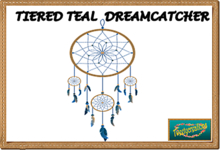 TIERED TEAL DREAMCATCHER