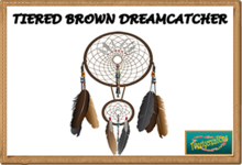TIERED BROWN DREAMCATCHER