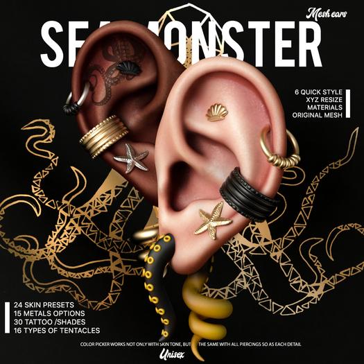 --- PUMEC - / Mesh Ears\   -  Sea Monster