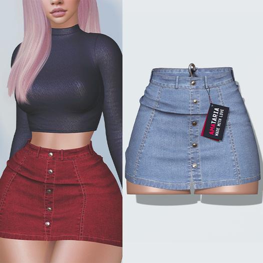 "Amataria - Jeans Skirt ""Karma"" - sky"