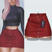"Amataria - Jeans Skirt ""Karma"" - red"