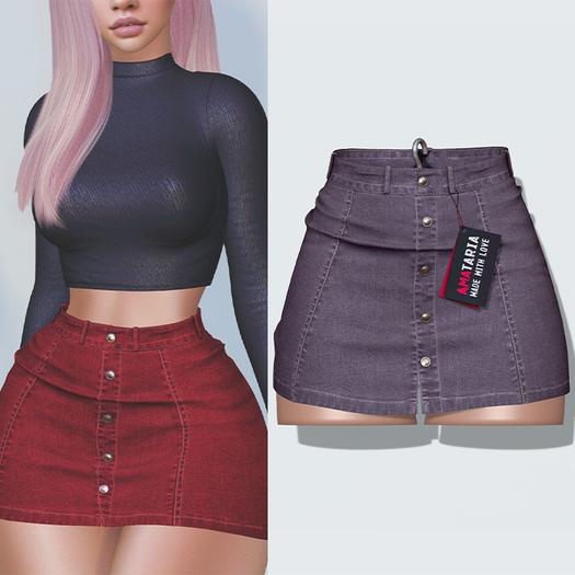 "Amataria - Jeans Skirt ""Karma"" - floral"