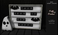 Candy Crunchers - Boo Sheet Board Decor (boxed)