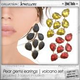 [ glow ] studio - Pear gems earrings volcano set