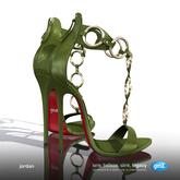[Gos] Jordan Ring Strap Sandals - Chive