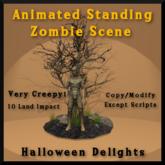 Animated Standing Zombie Scene