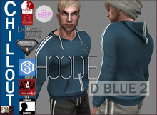 EMS - CHILLOUT HOODIE - D BLUE 2