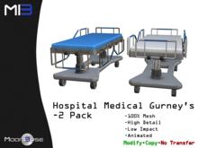 [MB3] Hospital Medical Gurneys - 2 Pack
