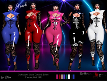 *PROMO Amanda Catsuit  & Bolero Set, Latex, Goth, 8 Textures, Hud, Fatpack, Sale, 3D, PVC,Rubber,Leather,Glossy