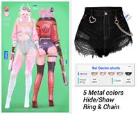 MIWAS / Rei Denim shorts #Black