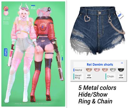MIWAS / Rei Denim shorts #Dark Blue