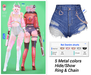 MIWAS / Rei Denim shorts #Blue