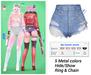 MIWAS / Rei Denim shorts #Light Blue