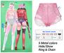 MIWAS / Rei Denim shorts #Pink