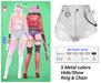 MIWAS / Rei Denim shorts #White