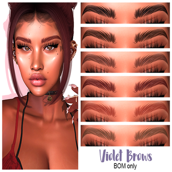 .:the-HAUS:. Violet BOM Eyebrows