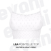 evani. Lea pointelle top - snow -