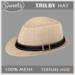 Sweet's Trilby Hat - Straw (unisex)