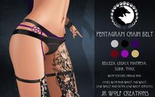 Pentagram Chain Belt ADD ME (JR Wolf Creations)