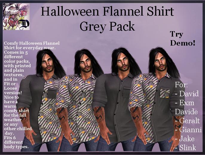 Men's Halloween Shirt - Grey Pack (ADD  ME)