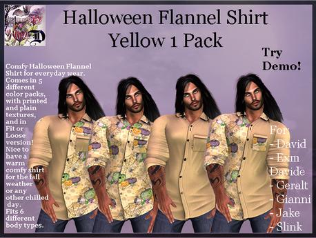 Men's Halloween Shirt - Yellow 1 Pack (ADD ME)