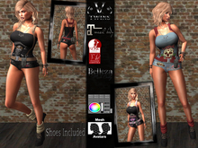V-Twins - Ryder Biker for Maitreya, Slink and Belleza
